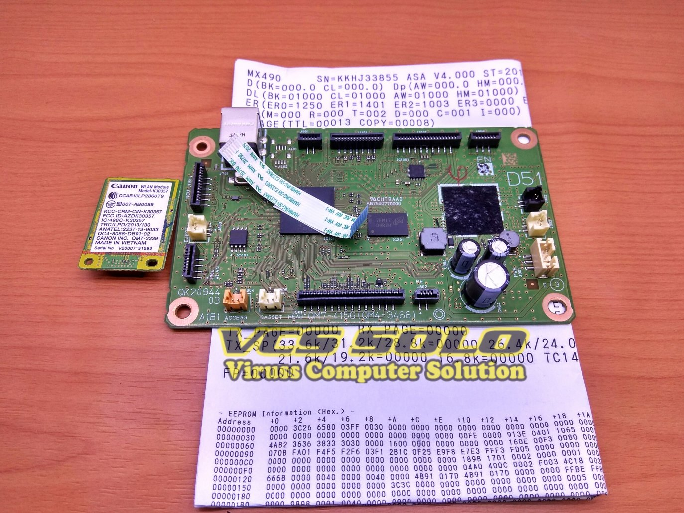 Katalog Vcssolo Distributor Sparepart Printer Pe Sensor Ip2770 Asf Mp258 Mp237 Mp287 Refurbish Board Mainboard Motherboard Canon Mx497